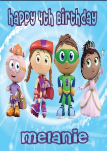 Personalised Super Why Birthday Card